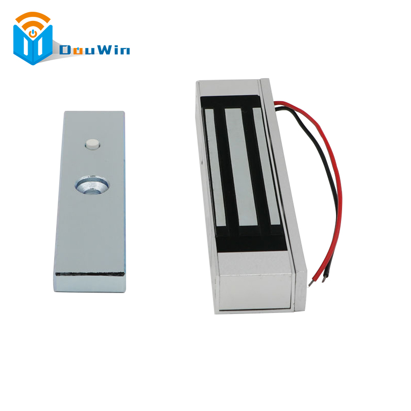 Electric Magnetic Lock Access Control Single Door 12V Electric Magnetic 180KG (350LB) Suction Holding Force Electromagnetic Lock new arrival 1000 kg 2200lb holding force electric shear magnetic lock for access control or intercom system