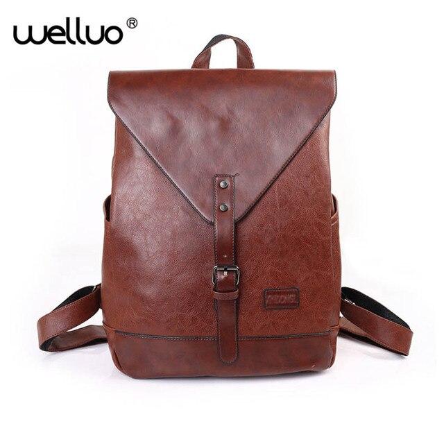 5643781aad2 Women Fashion Backpacks Male Travel Backpack Mochilas School Men s Leather  Business Bag Large Laptop Shopping Travel Bag XA155WB