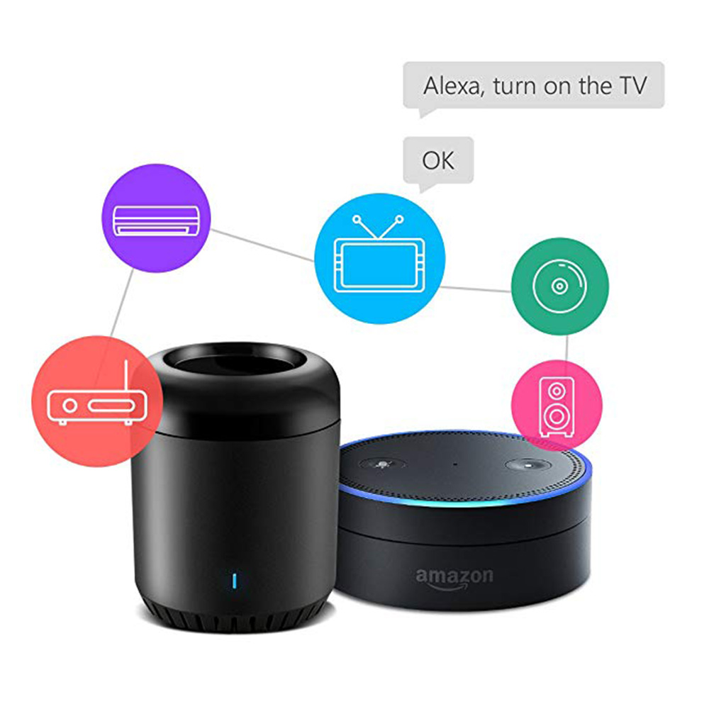 Broadlink Smart Home RM Mini 3 WiFi IR 4G Remote Control work for Alexa Google Home IFTTT Wireless APP Voice Controller in Home Automation Modules from Consumer Electronics
