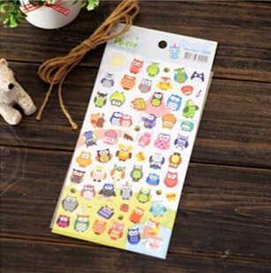 Owl Giraffe Print Photo Album Stockers Drawing Market Diary Transparent Scrapbooking Calendar Decor memo sticker