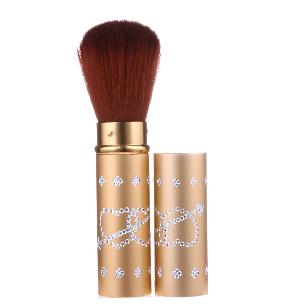 Portable Makeup Blush Brush Retractable Cosmetic Powder Foundation Blusher Brush Cosmetic Face Powder Brushes Makeup Tools new design stamp seal shape face makeup brush foundation powder blush contour brush cosmetic facial brush cosmetic makeup tool