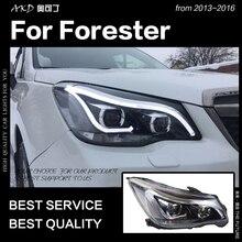 АКД стайлинга автомобилей фара для Forester фары Forester 2013-2016 светодиодный фара глаза ангела DRL Bi Xenon Hid авто аксессуары