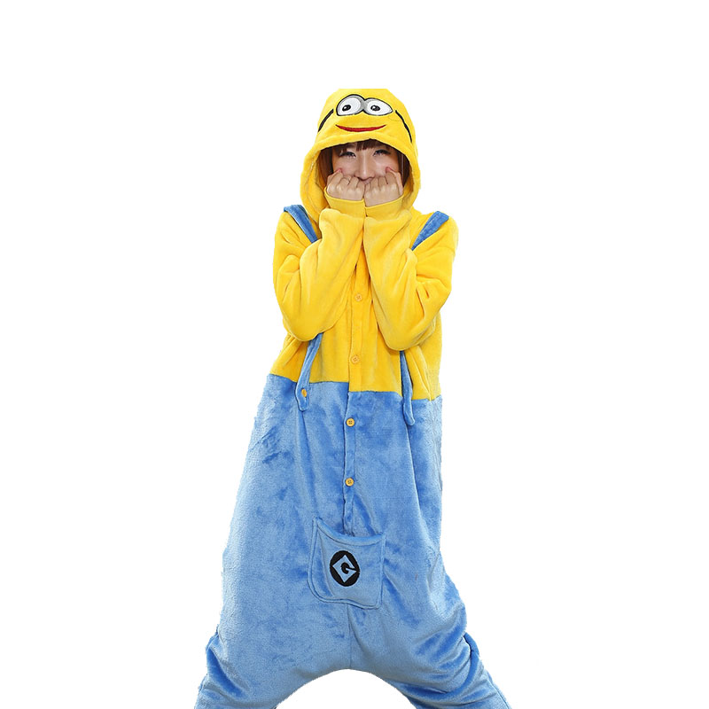 New Arrival Pikachu Minions Kigurumi Women Panda Pajamas Onesie For Teenagers Adults Kangaroo Pijamas Donkey Onepiece Suit ...