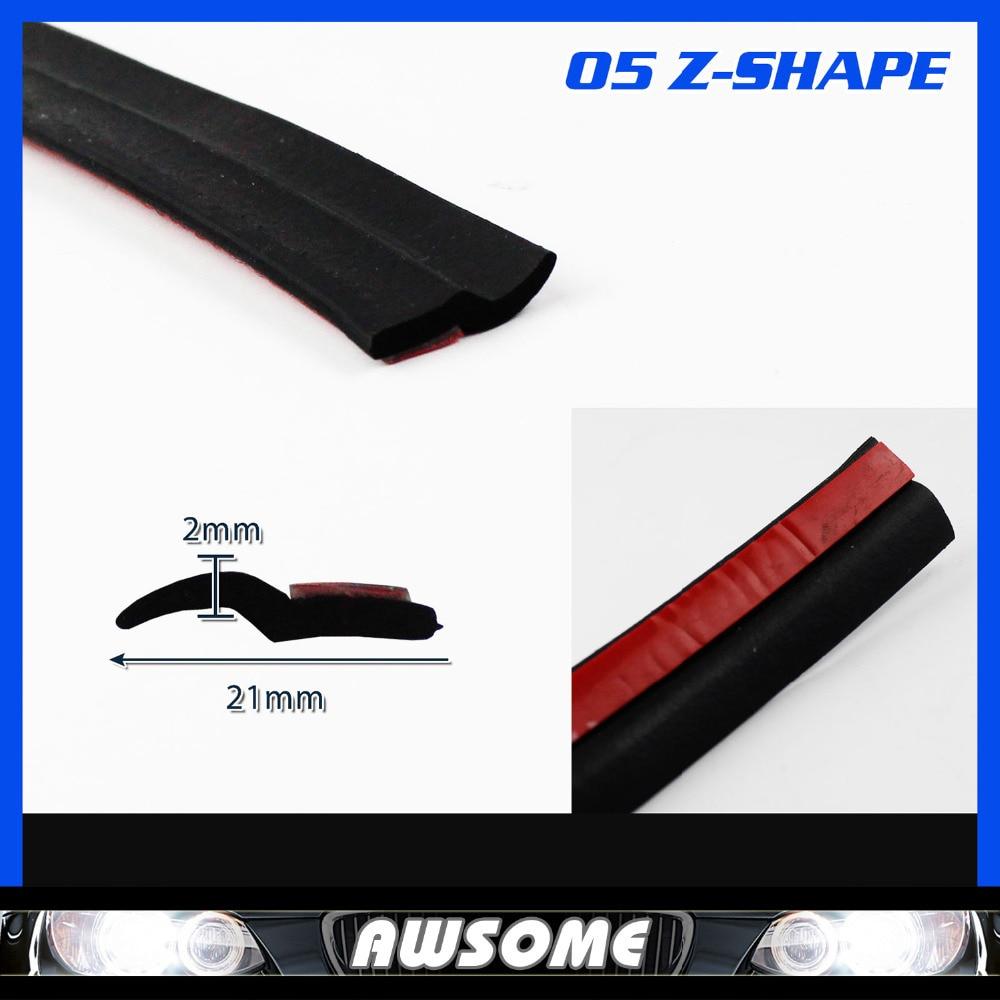 709 18M Z Type Flexibility BLACK Edge Trim Seal Strip Rubber pillar Car Auto Truck Door Noise Control Protector Guard Edging