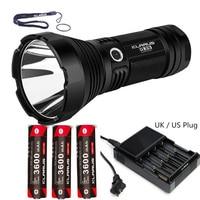 KLARUS G35 Torch XHP35 HI D4 LED 2000LM beam distance 1000 meter Flashlight + 3pcs Klarus 18650 3600mAh batteries + CH4S charger