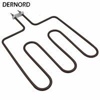 DERNORD 230v 1500w 3U Электрический трубчатый нагревательный элемент для печи сауны SUS304 воздушный нагревательный элемент нагреватель сауны трубка