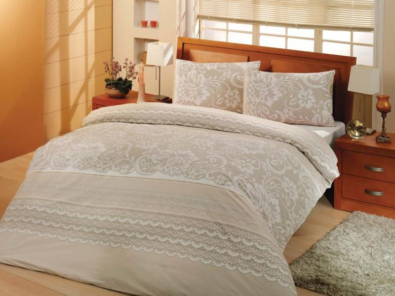 Bedding Set double-euro ALTINBASAK, NATURA, cream bedding set for baby altinbasak puffy cream