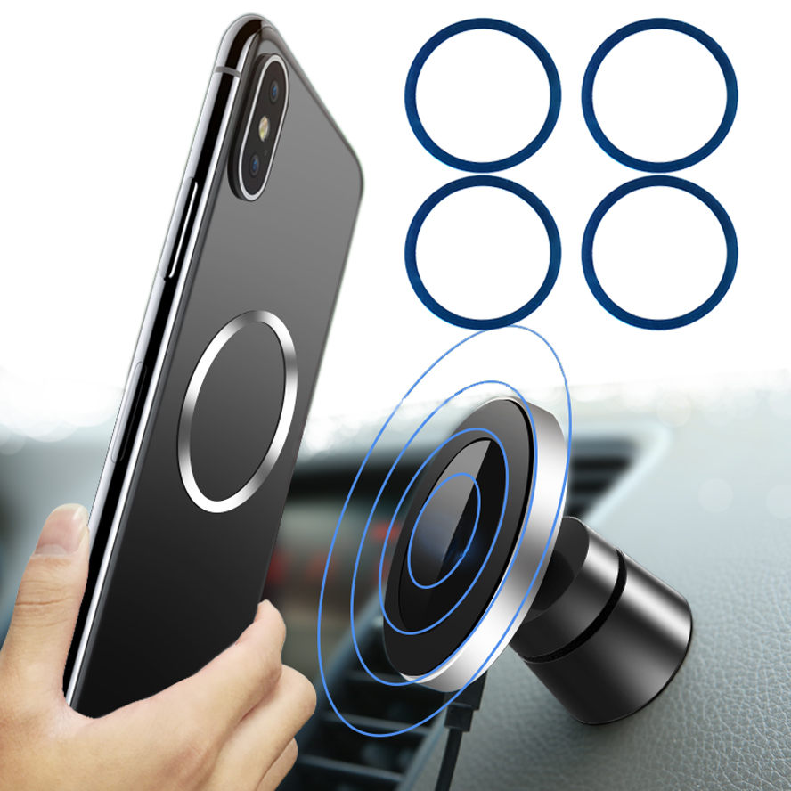 Plate-Disk Car-Stand-Holder Iron-Sheet Charging-Magnet Metal 8plus iPhone 8 6pcs/Lot