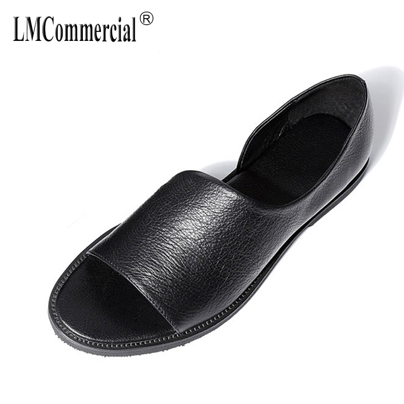 genuine leather mens Rome sandals Sneakers Men Slippers Flip Flops casual Shoes beach ou ...