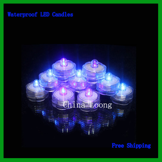 Free Shipping!Led Submersible Lights Waterproof Candle Lights,Irreplaceable Christmas Wedding Decorations