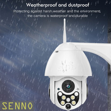 1080P 2MP Wireless IP Camera Wifi Speed Dome PTZ Outdoor Weatherproof IP66 Two Way Audio IR Night Vision Security Camera 12 ir night vision weatherproof surveillance security camera with audio sound pal