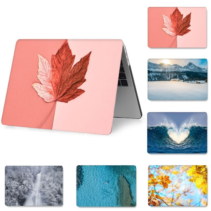 Leaf PVC Laptop Protect Case for MacBook Retina 12 13 15 Pro 13 Air 11 13 15 inch Full Cover Shockproof Case for A1707 A1989-in Laptop Bags & Cases from Computer & Office