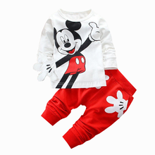 Boys and Girls Cartoon Printed Suit Baby Lovely Children's Two Kids'Suit kids clothing  children clothes