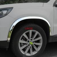 Fit For Volkswagen Tiguan 2017 2018 Car Wheel eyebrow decorative Anti collision Strip Sticker