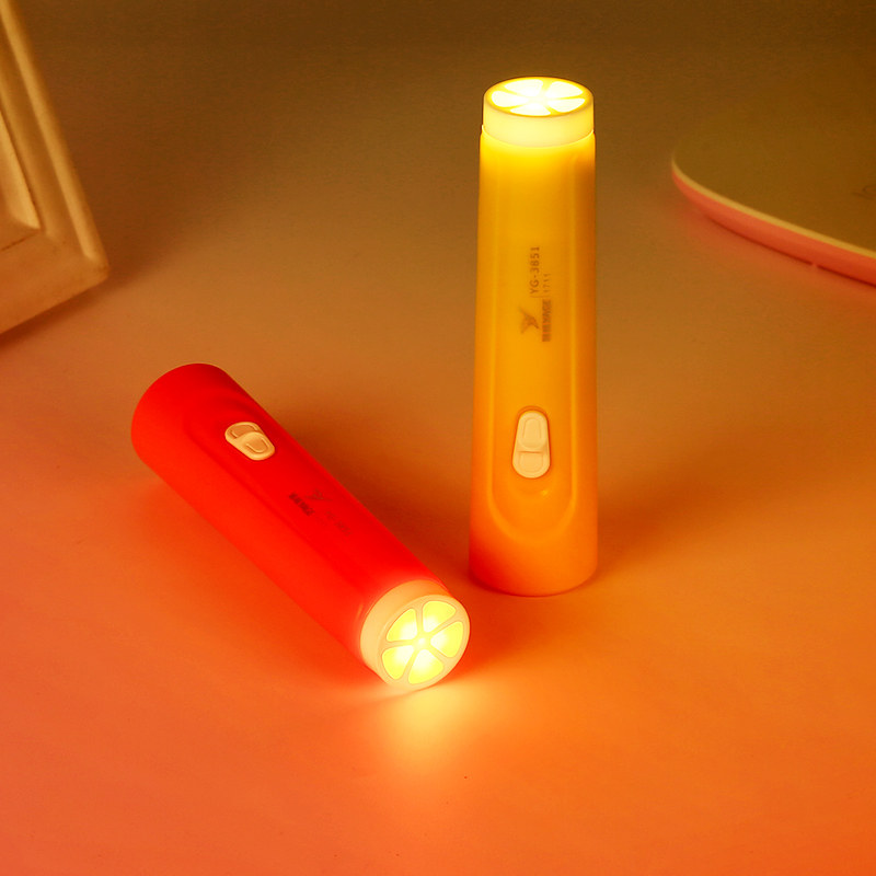 Купить с кэшбэком YAGE 2019 New Small Orange Led Flashlight Night Light Double Lamp 2-Modes Torch Literna Laterna 1200mAh Battery In Lampe Torche