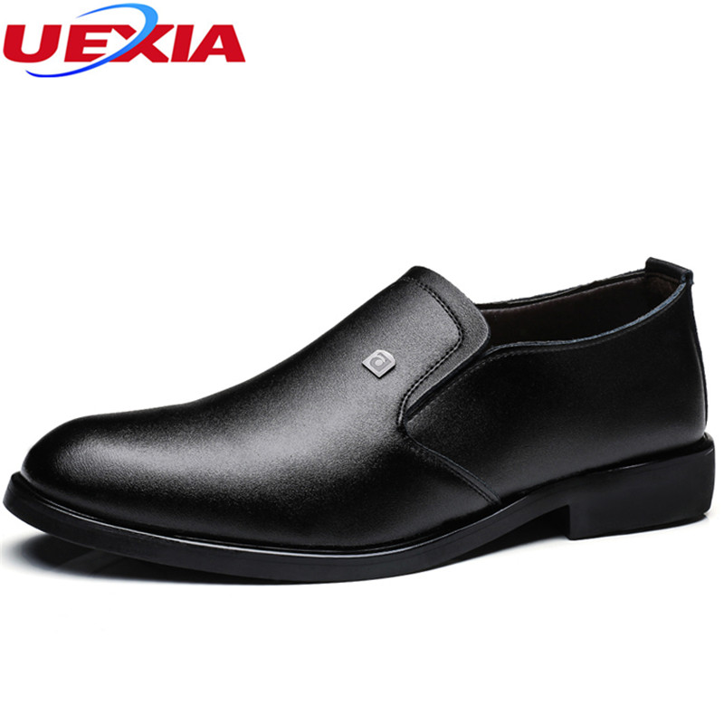 UEXIA Men Dress Italian Leather Shoes Slip On Fashion Moccasin Glitter Formal Male Shoes Pointed Toe Fashion Dress Shoes Slip On pointed toe men dress oxfords shoes italian leather male wedding party formal shoes black slip on fashion design business shoes