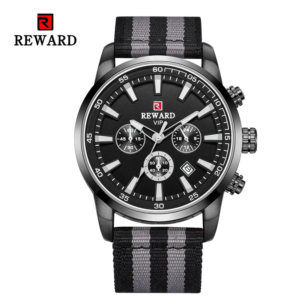 Quartz Men Watches Fashion Canvas Chronograph Watch Clock for Gentle Men Male Students Reloj Hombre free shipping 2019 (18)