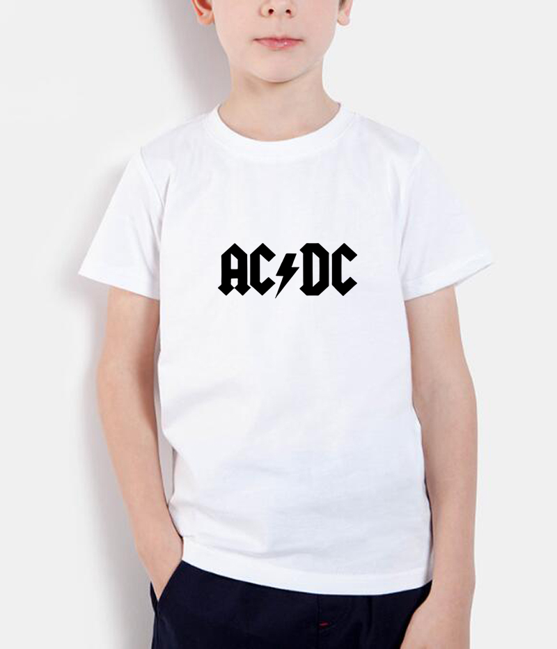 2018 new fashion t shirts summer ac/dc printing tops kids t shirt brand clothes casual o neck bpys girls t-shirts short sleeve