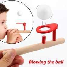 Novelty Wooden Toys Puzzle Blowing Ball Balance Training Blow Ball Rod Educational Toys for Children Kids Antistress Adult Toys(China)