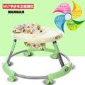 Caminante del bebé de múltiples funciones lado over the knee 6-7-18 meses de bebé paso ayuda coche pasos plegables