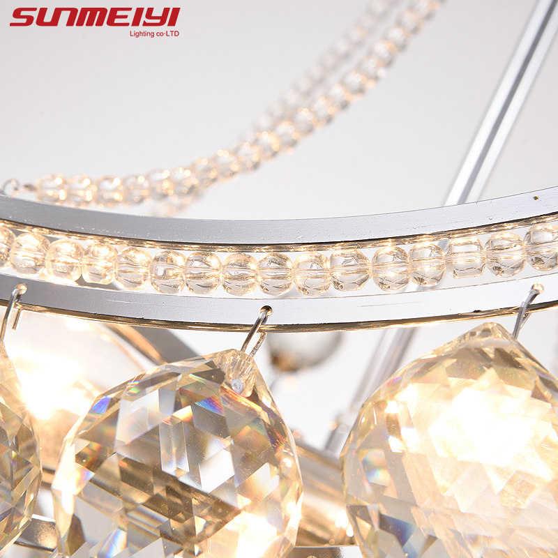 2019 новая стильная хрустальная люстра осветительное приспособление хрустальный свет люстры для гостиной потолочный светильник Бесплатная доставка