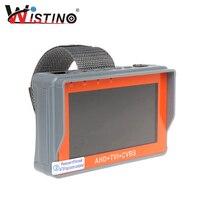 HD 4.3 Inch 3 In 1 Analog Camera Tester HD AHD TVI CCTV Monitor Test UTP Cable 1080P CVBS Surveillance 12V1A 5V1A Audio