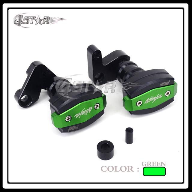 Sale Aluminum Motorcycle Green Frame Slider Anti Crash Protector For ...