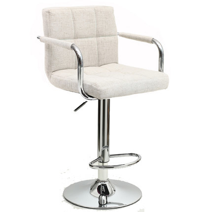 European and American popular bar chair beige color stool
