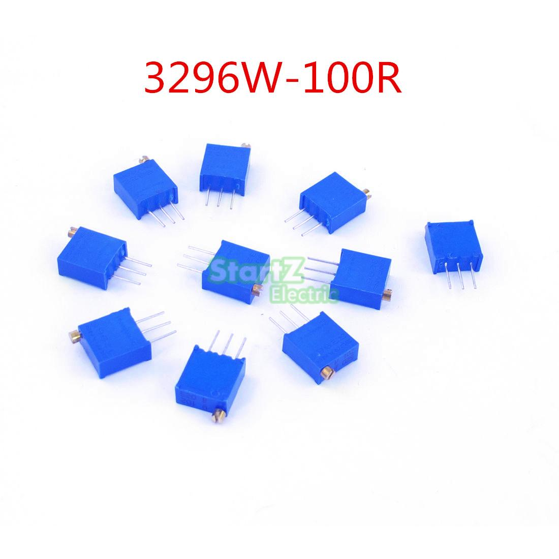 50pcs 3296w 101 Multiturn Trimmer Potentiometer 100ohm Variable Resistor Circuit High Precision 3296