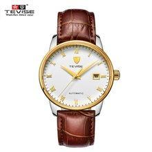 Relogio masculino 2016 TEVISE Reloj Automático Auto-Viento Calendario Impermeable Estilo de La Moda de Los Hombres Horas Reloj Para Hombre Montre Homme