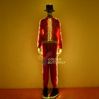 LED Clothing Fashion Luminous Pants Suits Glowing Hat Talent Show Men/Woman Glowing Clothes With Dance Dress Accessories