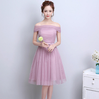 2017 Summer Frock Dresses For Teenage Girls Off Shoulder Dress Evening Party Wear Junior Girls Prom
