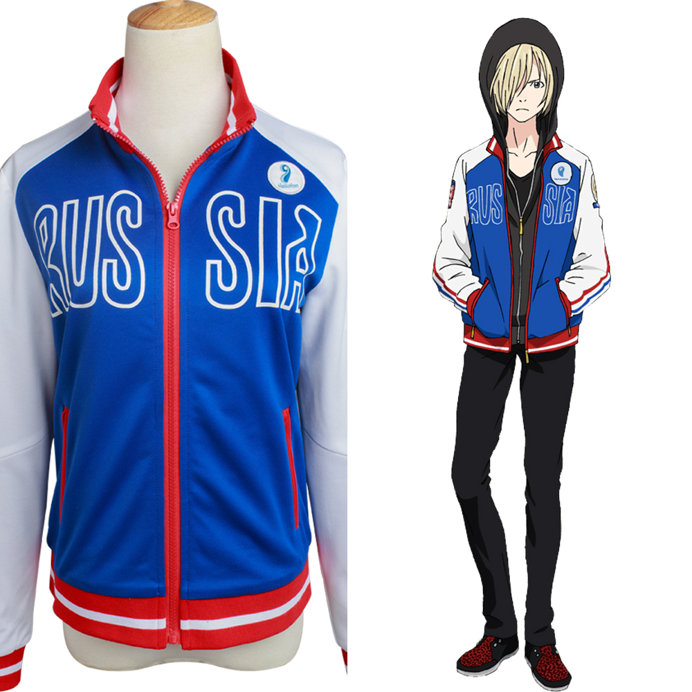 Yuri on Ice Cosplay Victor Nikiforov Costume Victor Nikiforov Uniform Cosplay Costume Jacket Halloween Party New Anime For Boy
