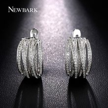 NEWBARK New Vintage Trendy Earrings Silver Color Jewelry European Innovative Cross Pave AAA CZ Crystal Jewelry For Women Gift