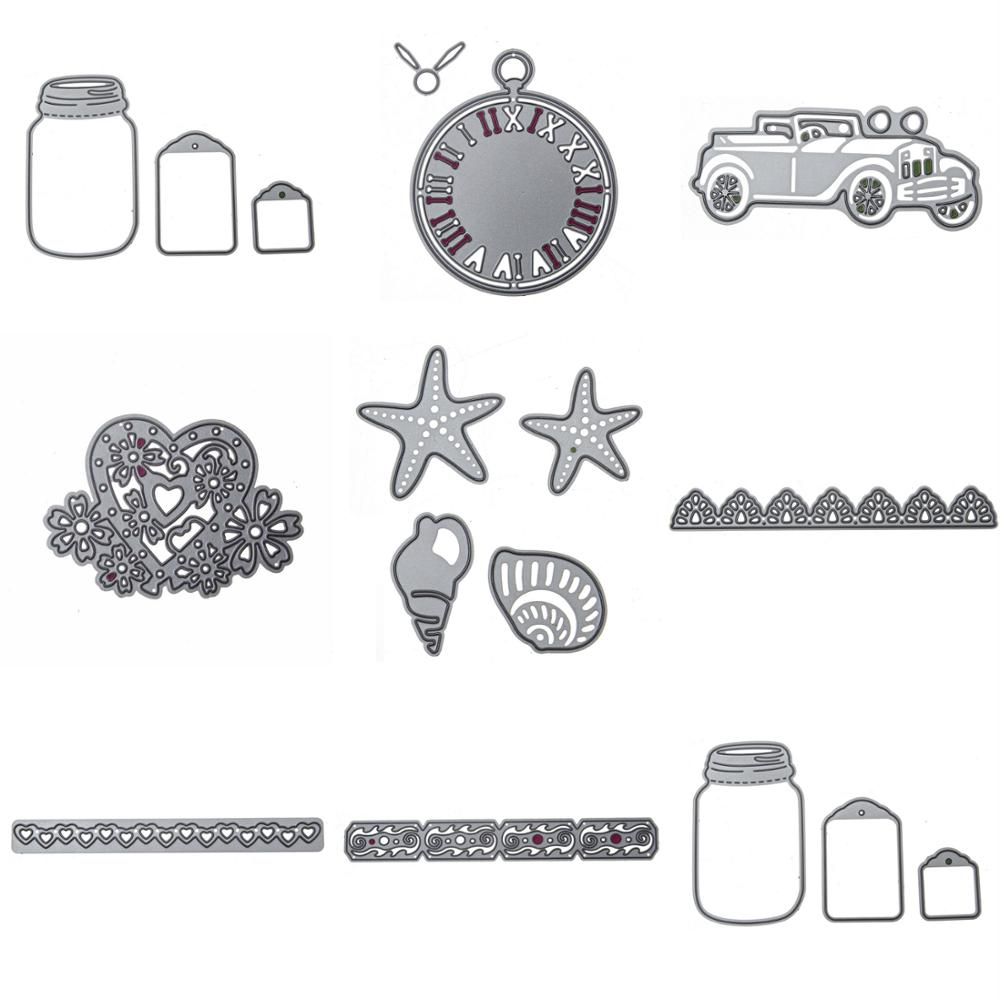 8 styles new embossing steel alphabet letter car cutting dies stencils diy scrapbooking card album photo