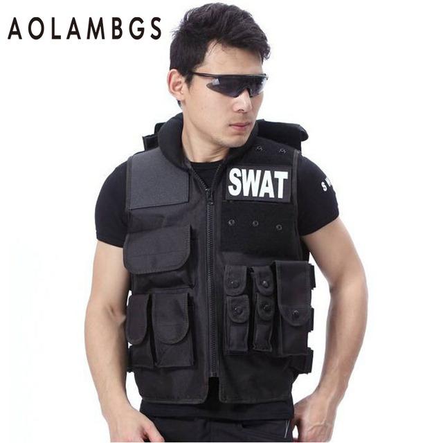 SWAT Colete Tático Sistema Molle Militar Campo CS Equipamentos de Segurança, Coletes de protecção Militar Fãs de Esportes de Treinamento de Combate Colete
