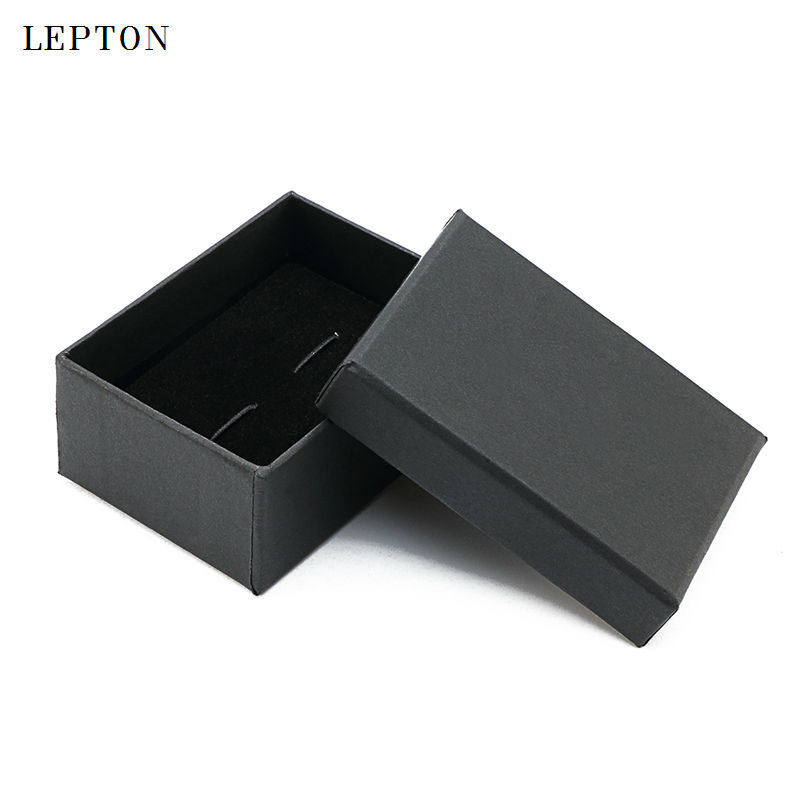 2017 Black Paper Cufflinks Boxes 10 PCS/Lots High Quality Black Matte Paper Jewelry Boxes Cuff Links Carrying Case Wholesale