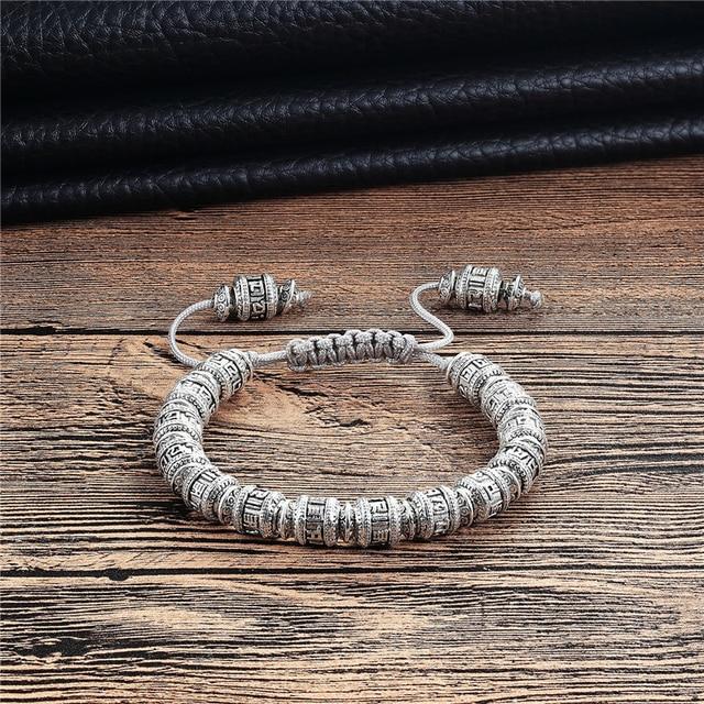 Тибетский браслет из медного сплава мужские шесть слов мантры