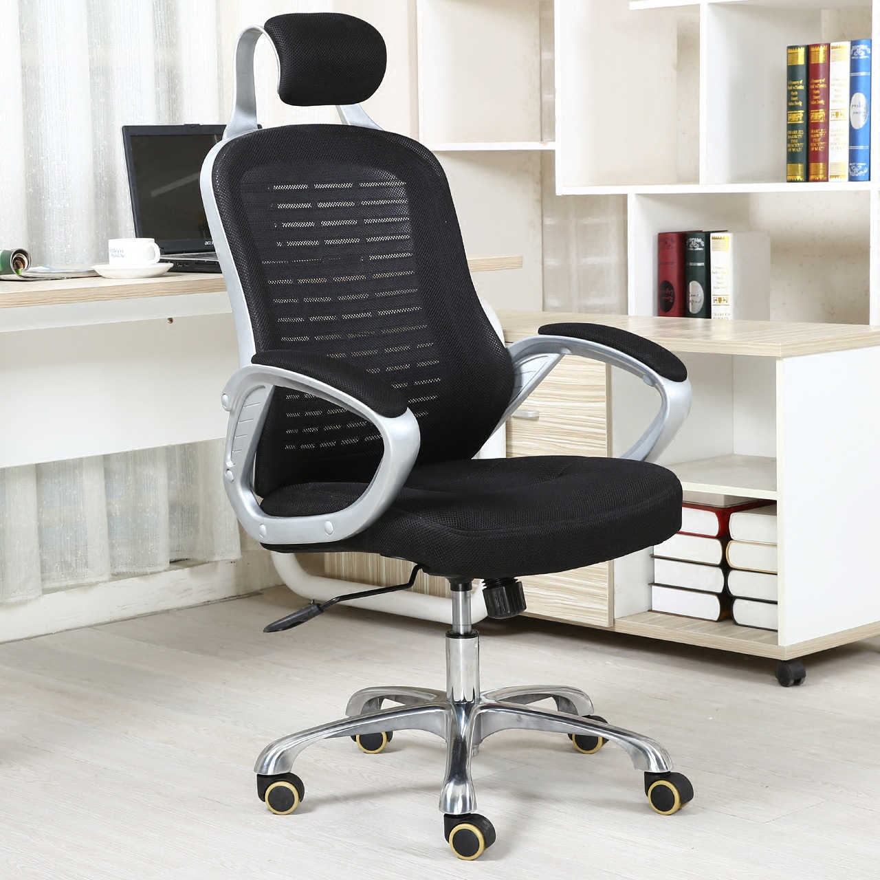 High Quality Simple Office Boss Chair Lifting Leisure Swivel Chair Ergonomic Computer Gaming Chair 240337 ergonomic chair quality pu wheel household office chair computer chair 3d thick cushion high breathable mesh
