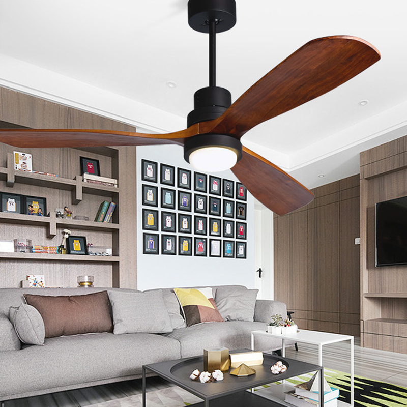 52 inch modern wooden ceiling fans with lights remote - Bedroom ceiling fans with remote control ...
