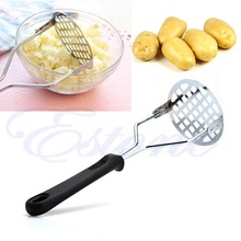 Useful Fashion Salad Potato Crusher DIY Egg Vegetable Baking Stainless Steel Masher Kitchen Practical Accessories Tools