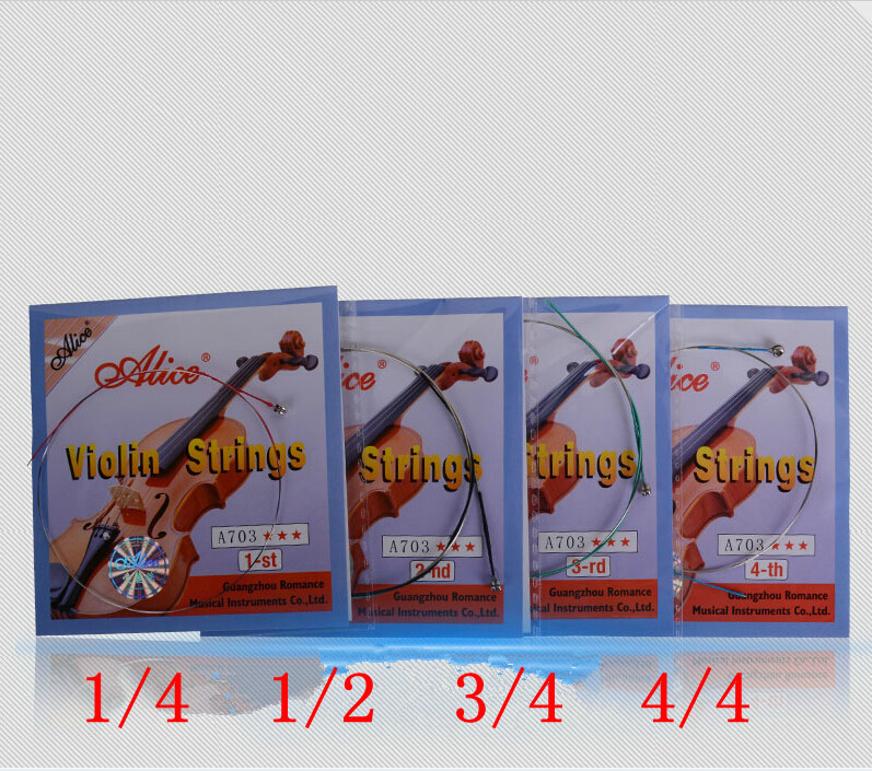 50 Sets Violin Strings E A D G for Violino 1/4 1/2 3/4 4/4 Strings A703 Alice Strings Violin Accessories handmade new solid maple wood brown acoustic violin violino 4 4 electric violin case bow included