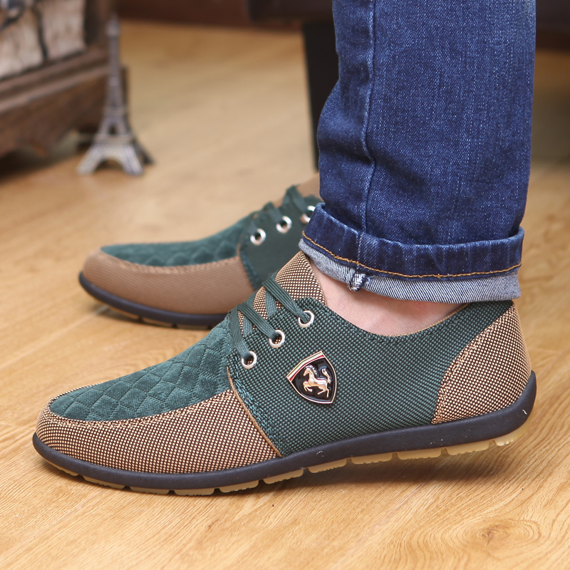 2019 Shoes Men Flats Canvas Lacing Shoes Breathable Men Casual Shoes Fashion Sneakers Men Loafers Wholesale Men 39 S Shoes 3