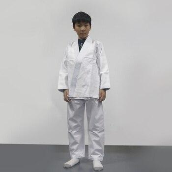 Chico (niños y niñas) en blanco bjj gi niños brasileño jiu-jitsu gi formación kimonos bjj