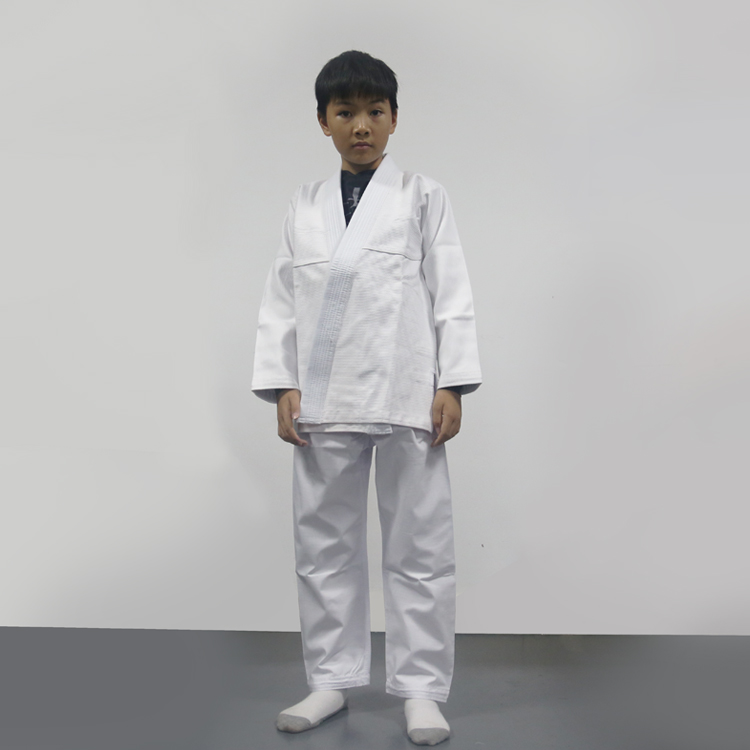 kid's (girls and boys) blank bjj gi children's brizilian jiu-jitsu gi training bjj kimonos image