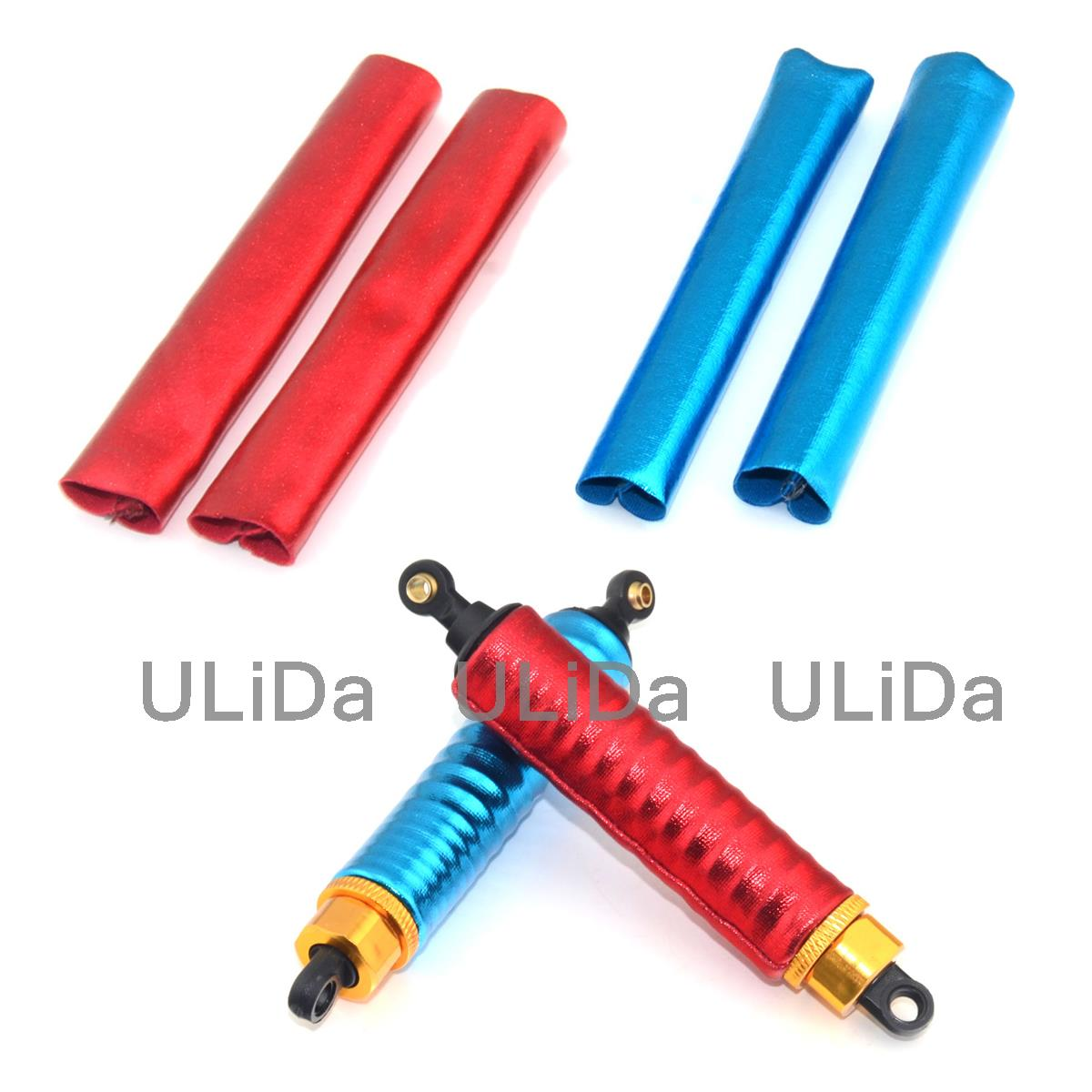4pcs Shock Absorber Cover Dust-Proof Guard For 1/10 Scale RC Car Truck Buggy HSP HPI Traxxas Redcat Racing Himoto 108004 122004