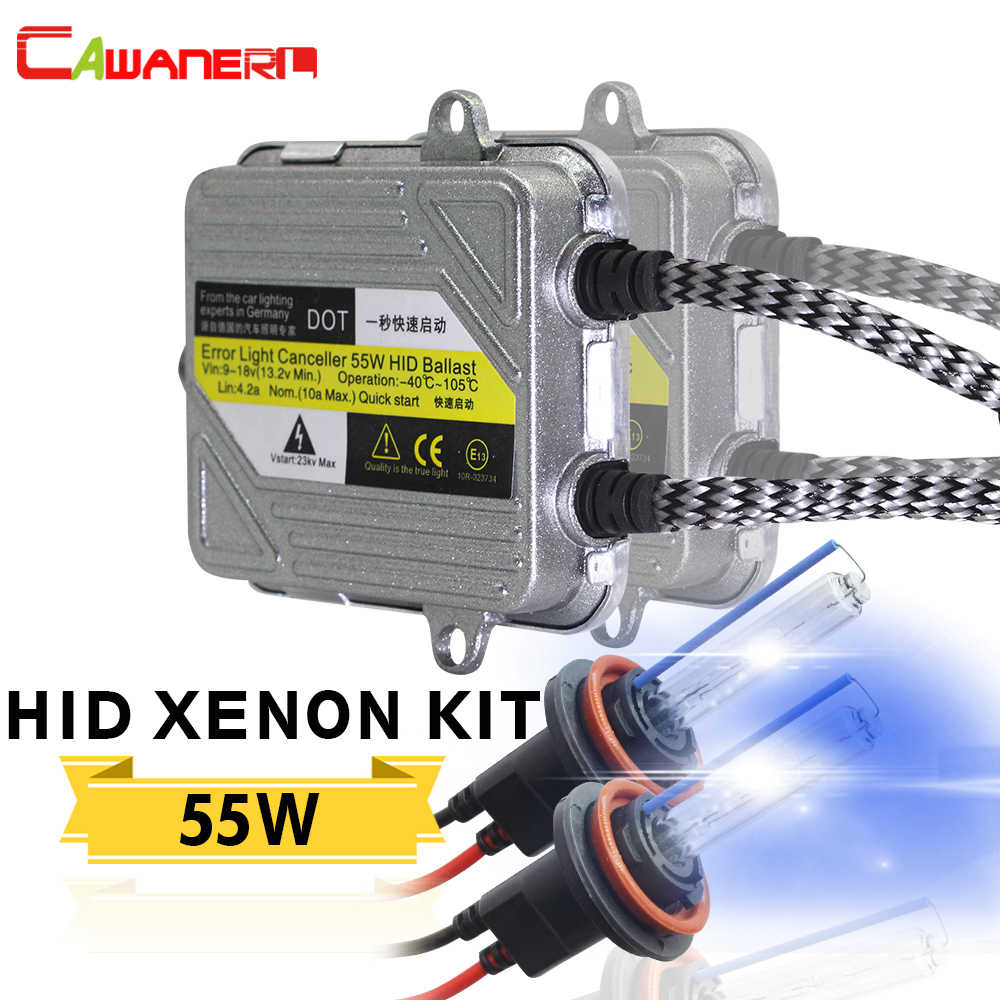 Cawanerl 55W Xenon KIT HID Bulb Ballast 4300K-10000K H1 H3 H4 H7 H8 H9 H11 9005 HB3 9006 HB4 9007 881 Car Headlight Fog Light