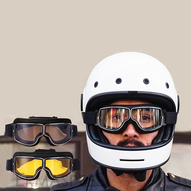 Safety Windproof Motorcycle Glasses Retro Motocross Goggles Eye Protection Cycling Outdoor Dirt Bike Riding Vintage Sunglasses 4