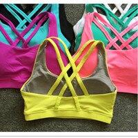 Sexy Back Cross Shockproof Bras Women Top Athletic Vest Gym Fitness Sports Bras Seamless Sport Bra
