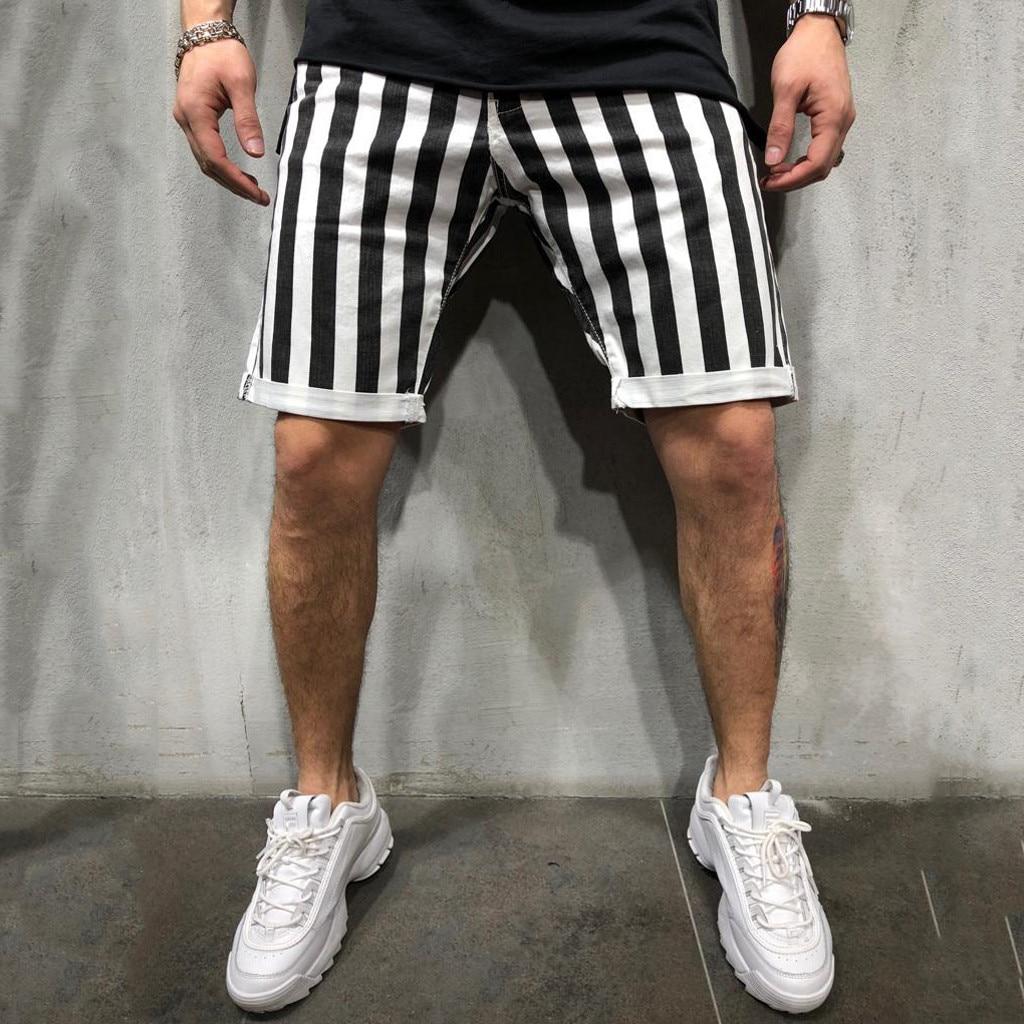 man   shorts   beach summer Casual   short   pants men sport Joint Lashing Stripe Loose Pocket Sweatpants Drawstring   Short   L0423